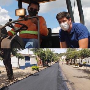 Presidente da GOINFRA vistoria obras rodoviárias no perímetro urbano de Jaraguá