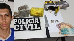 Polícia Civil prende no Jardim Primavera traficante com 1 kg de maconha e crack
