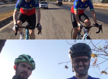 Ciclistas de Jaraguá fazem desafio solidário e percorrem 400km em um dia até MG