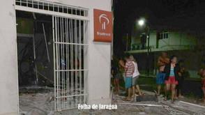 Criminosos destroem agência do Bradesco de Itaguaru ao explodirem caixas eletrônicos