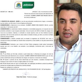 Prefeito Paulo Vitor decreta luto de três dias pela morte de Cleiber Júnior