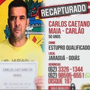 Estuprador de Jaraguá que estava foragido é preso na cidade de Itaguaru