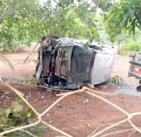Homem escapa ileso de acidente na estrada que dá acesso a Mirilândia