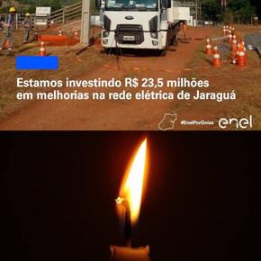 ENEL humilha população de Jaraguá, que se questiona cadê os 23 milhões de investimentos
