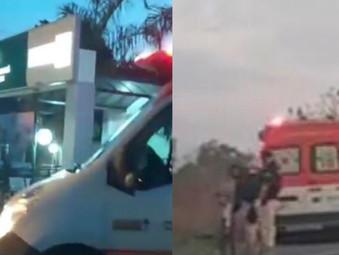 Ciclista que caiu na BR-153 em Jaraguá está em estado gravíssimo internado no HEJA