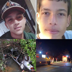 Dois jovens morrem na GO-080 em Jaraguá após GM/Monza cair de uma ponte