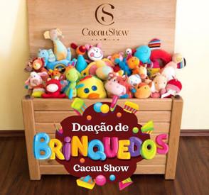Cacau Show faz campanha de arrecadação de brinquedos para crianças de Jaraguá