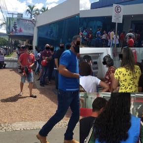 Sem fiscalização, clientes relatam péssimo atendimento do Bradesco e Caixa em Jaraguá