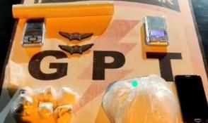 Traficante é preso em Jaraguá pelo GPT com quase 01 kg de cocaína em sua residência