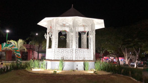 Praça do Coreto em Jaraguá ganha iluminação de LED e reforma de equipamentos