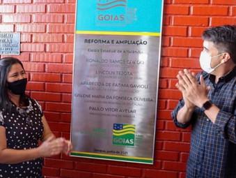 Distrito de Artulândia tem escola estadual reformada e educação recebe ônibus