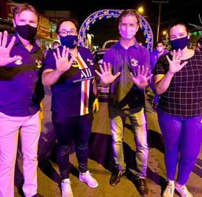 Zilomar Olivieira abre campanha de rua com realização de adesivaço