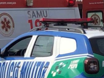 Motociclista sofre acidente em Jaraguá e tem veículo retido por irregularidades