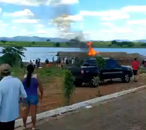 Barraca pega fogo em Cirilândia durante comemoração da Prefeita de Santa Isabel