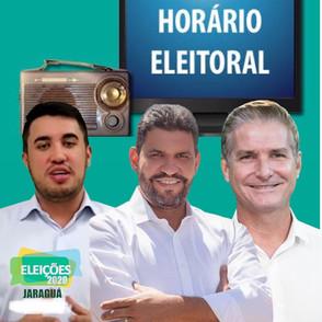 Candidatos usam estratégias diferentes na estreia do horário eleitoral em Jaraguá