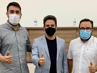 Secretário de Saúde Ismael Alexandrino recebe bloco de Prefeitos do Vale do São Patrício