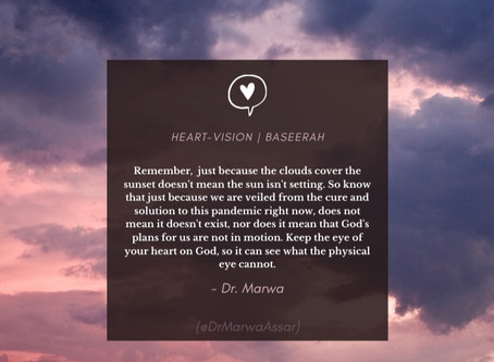 Strengthening our Heart-Vision in the Face of COVID-19