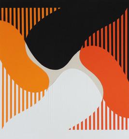 interferência múltipla - 2016 - Escultura Plana - trama em papel
