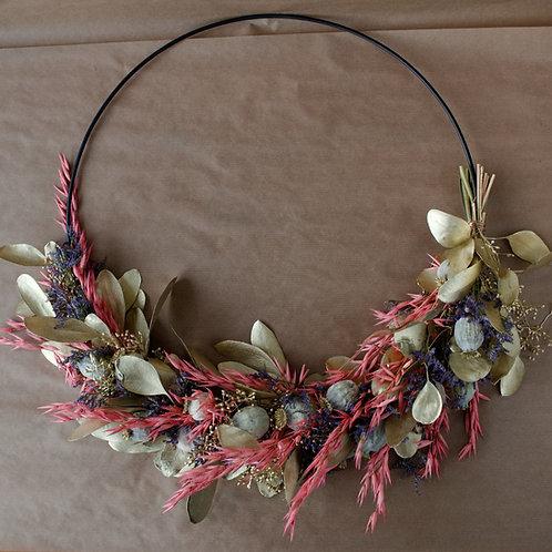 """Flower Hoop """"Golden times"""""""