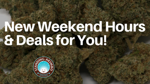 New Dispensary Hours and Weekend Deals at Standing Akimbo!
