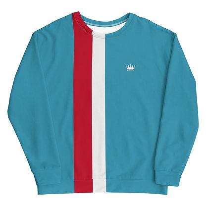 Light Blue & Red Crown Sweatshirt Unisex Sweatshirt