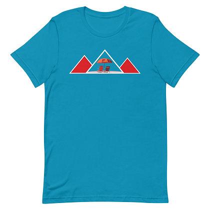 Blue Summer Beach Short-Sleeve Unisex T-Shirt