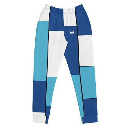 Vintage Blue & White Tiled Women's Joggers