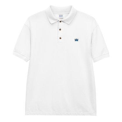 Blue Crown Embroidered Polo Shirt
