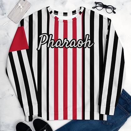 Striped + Armband White Unisex Sweatshirt
