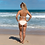Thumbnail: Beige & White Heavily Striped Bikini