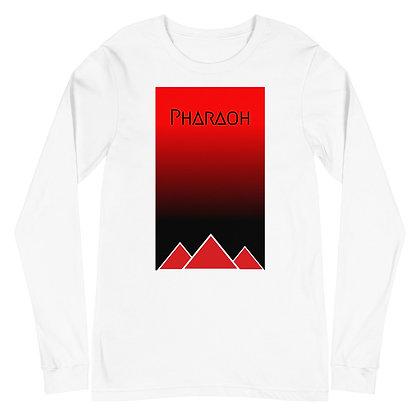 Red & Black Gradient Unisex Long Sleeve Tee