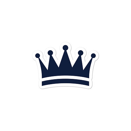 Navy Crown Bubble-free stickers