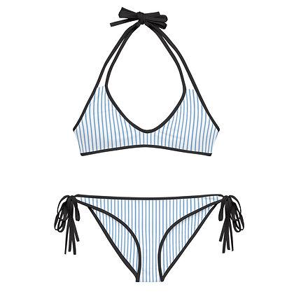 Manasquan Light Blue Striped 2-Piece Bikini