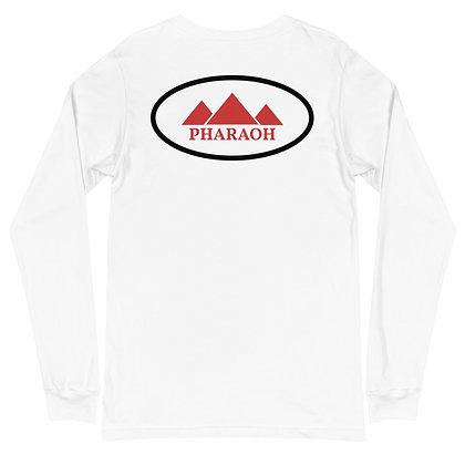 White Encircled TriPyramid Unisex Long Sleeve Tee
