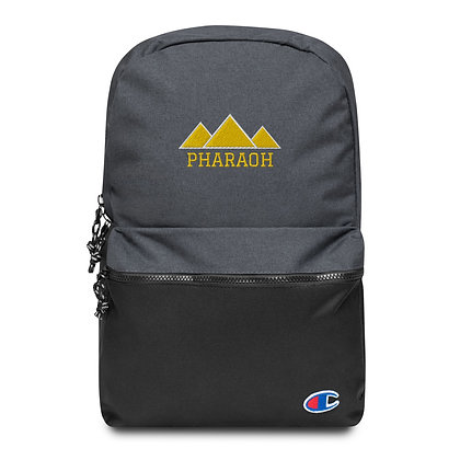 Gold Embroidered Pharaoh + Champion Backpack