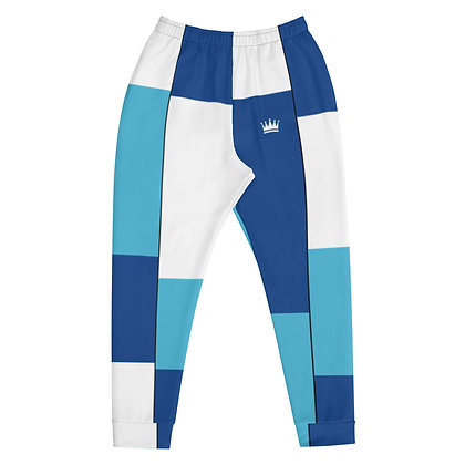 Vintage Blue & White Tiled Men's Joggers