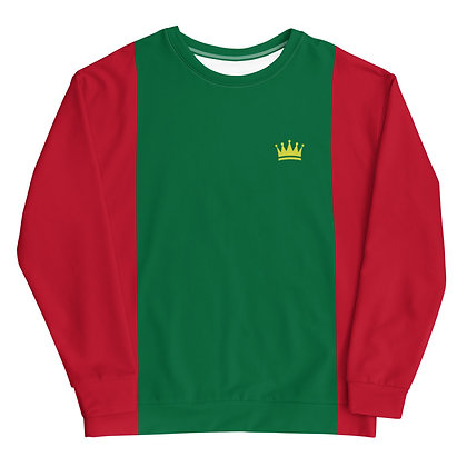 Red & Green Crown Unisex Sweatshirt