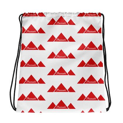Red & White Pattern Drawstring bag