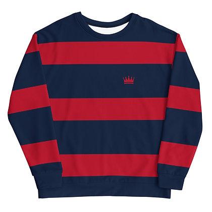 Red & Blue Striped Unisex Sweatshirt