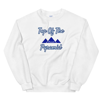 White & Blue Top-Of -The- Pyramid Unisex Sweatshirt