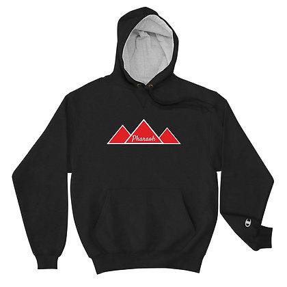 Black with Red TriPyramid Logo Pharaoh + Champion Hoodie