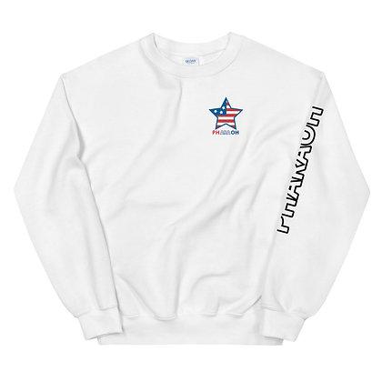 White USA Unisex Sweatshirt
