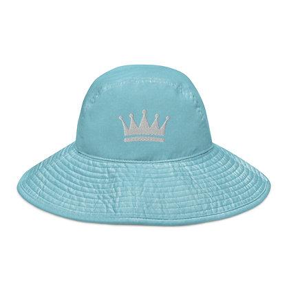 Caribbean Blue Wide brim bucket hat