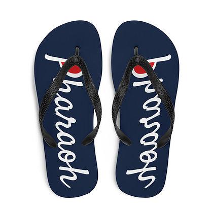 Champion Style Logo Text Flip-Flops