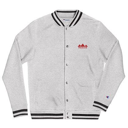 White TriPyramid Embroidered Champion Bomber Jacket