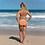 Thumbnail: Orange Cream Soda Color Scheme Navy Classic 2-Piece Bikini copy