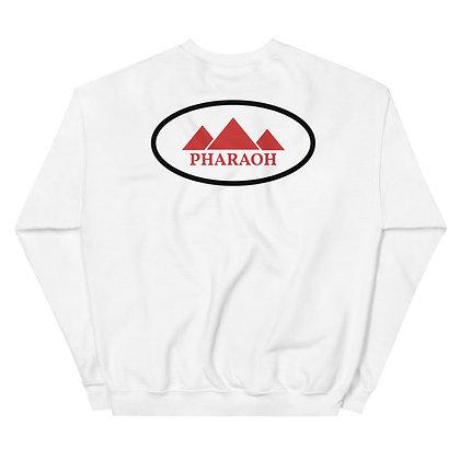 White Encircled TriPharaoh Unisex Sweatshirt