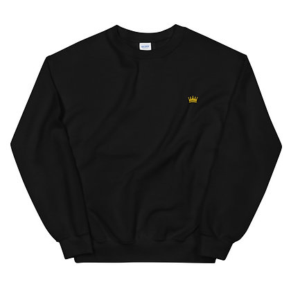 Embroidered Gold Color Unisex Sweatshirt