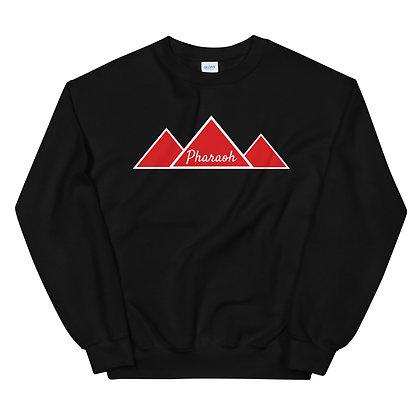 White With Red TriPyramid Logo Unisex Sweatshirt