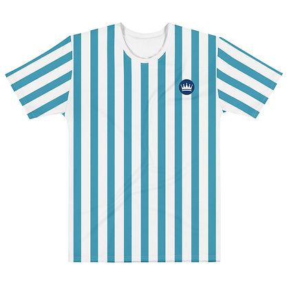 Striped Left Chest Logo Insignia Men's T-shirt